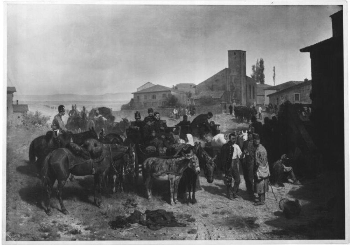 Szene aus dem österreichisch-italienischen Krieg