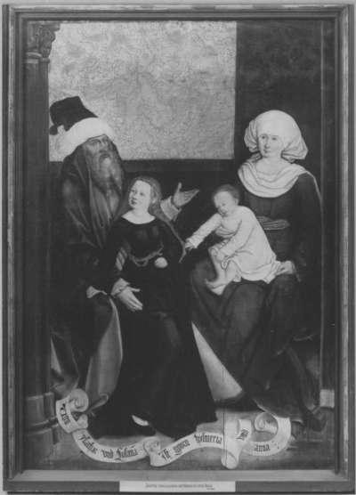 Mindelheimer Sippenaltar: Ysaschar und Susanna mit Esmeria und Anna