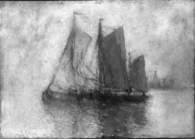 Fischerboote auf der Unterelbe
