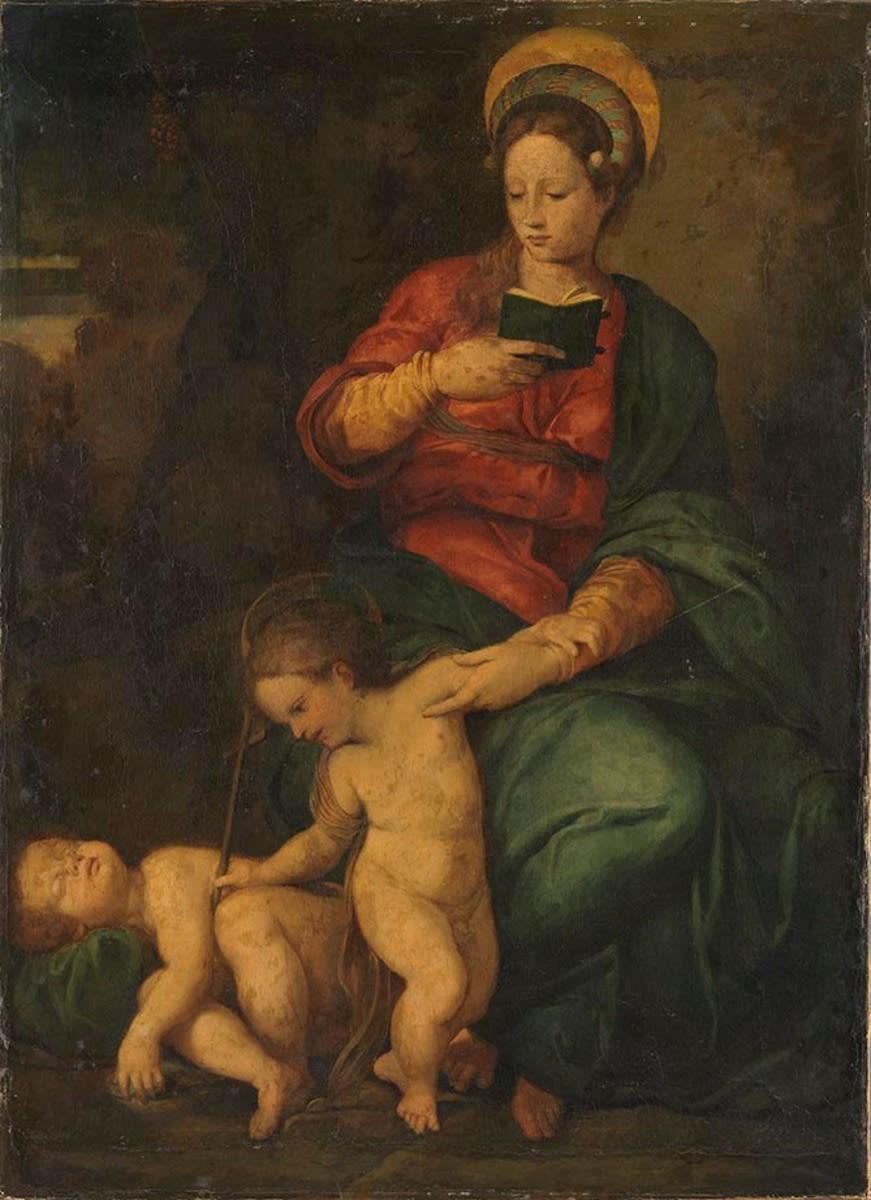 Maria mit Kind und dem schlafenden Johannesknaben
