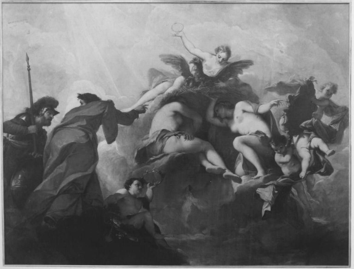 Allegorie des jugendlichen Herrschers (Deckenbild)
