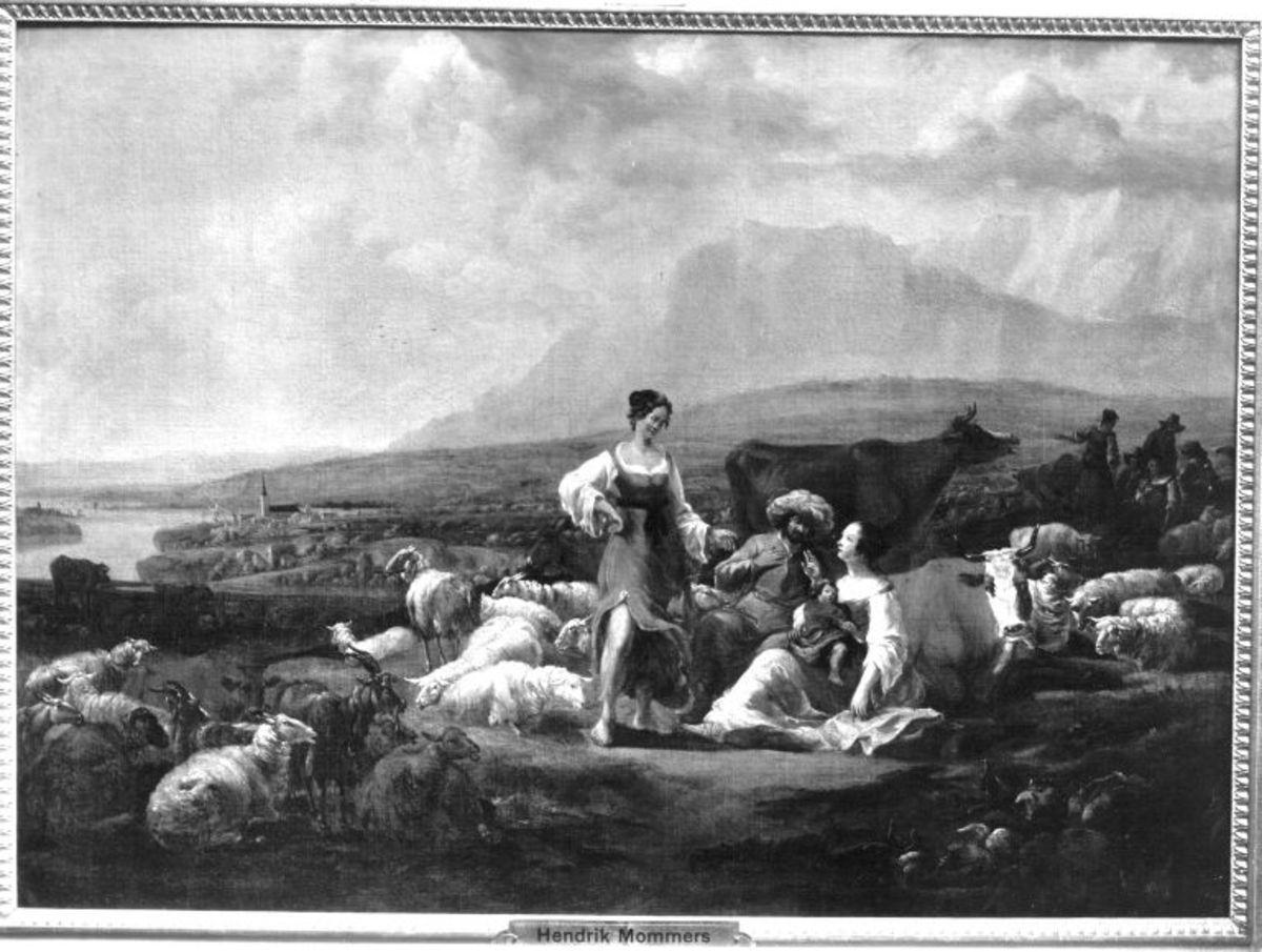 Viehstück mit Hirten