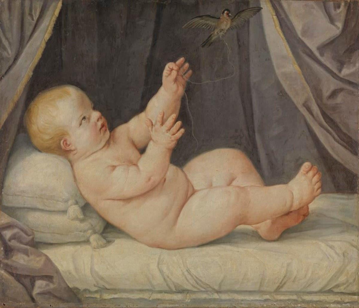 Kind mit Stieglitz