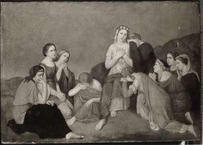 Frauengruppe in Landschaft