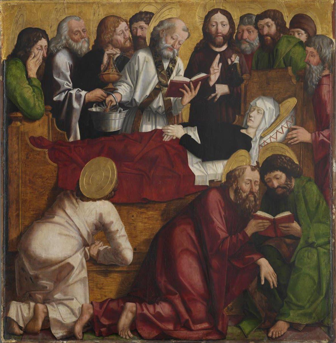 Laurentius-Altar: Der Tod Mariae
