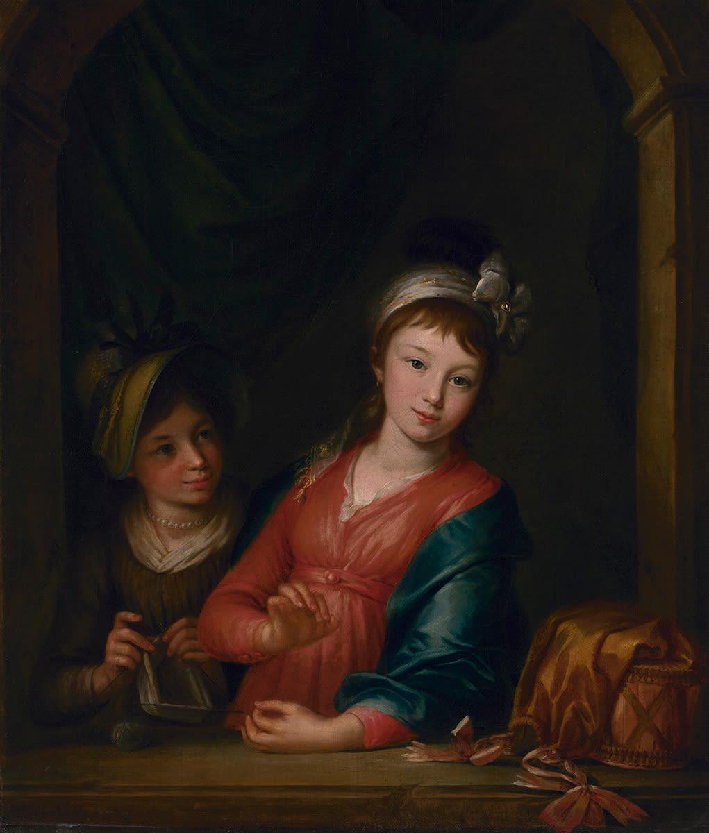 Maria Anna und Amalie Dorner, die Töchter des Künstlers