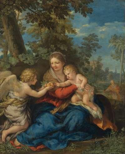 Die Heilige Familie bei der Rast auf der Flucht nach Ägypten