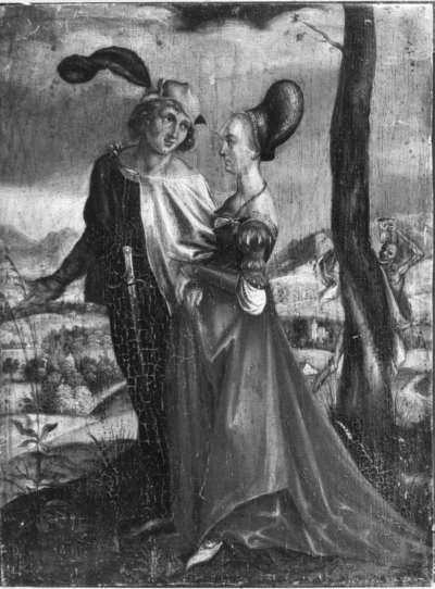 Der Spaziergang (nach Dürers Kupferstich B. 94)