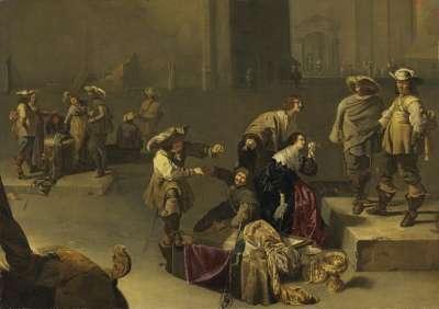 Plündernde Soldaten