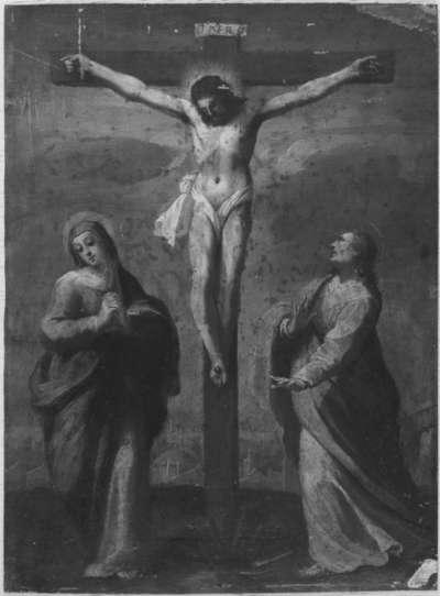 Christus am Kreuz mit Maria und Johannes