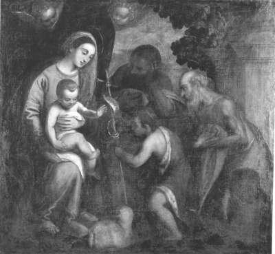 Die Heilige Familie mit Johannesknaben und zwei Heiligen