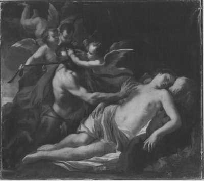 Nymphe und Satyr