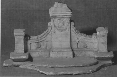 Modell für den Bismarck-Brunnen von Ferdinand Freiherr von Stumm auf Schloss Rauischholzhausen