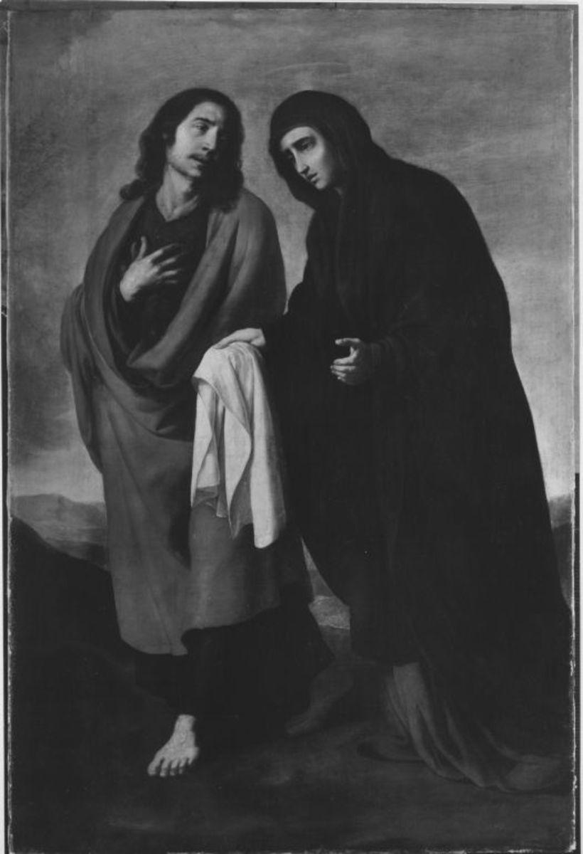 Maria und Johannes vom Kalvarienberg heimkehrend