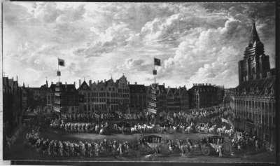 Festzug anlässlich der Bischofsweihe von Joseph Clemens, Erzbischof und Kurfürst von Köln, in Lille