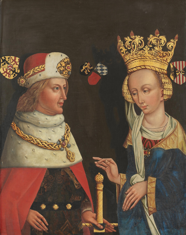 Bildnis des Kurfürsten Rupprecht II. von der Pfalz mit Gemahlin Beatrix