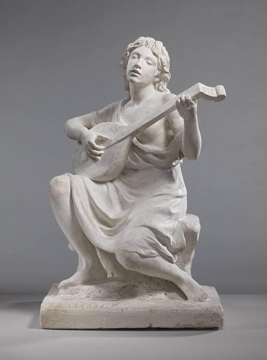 Modell für das Laute spielende Mädchen des Denkmals von Joseph Joachim in Berlin