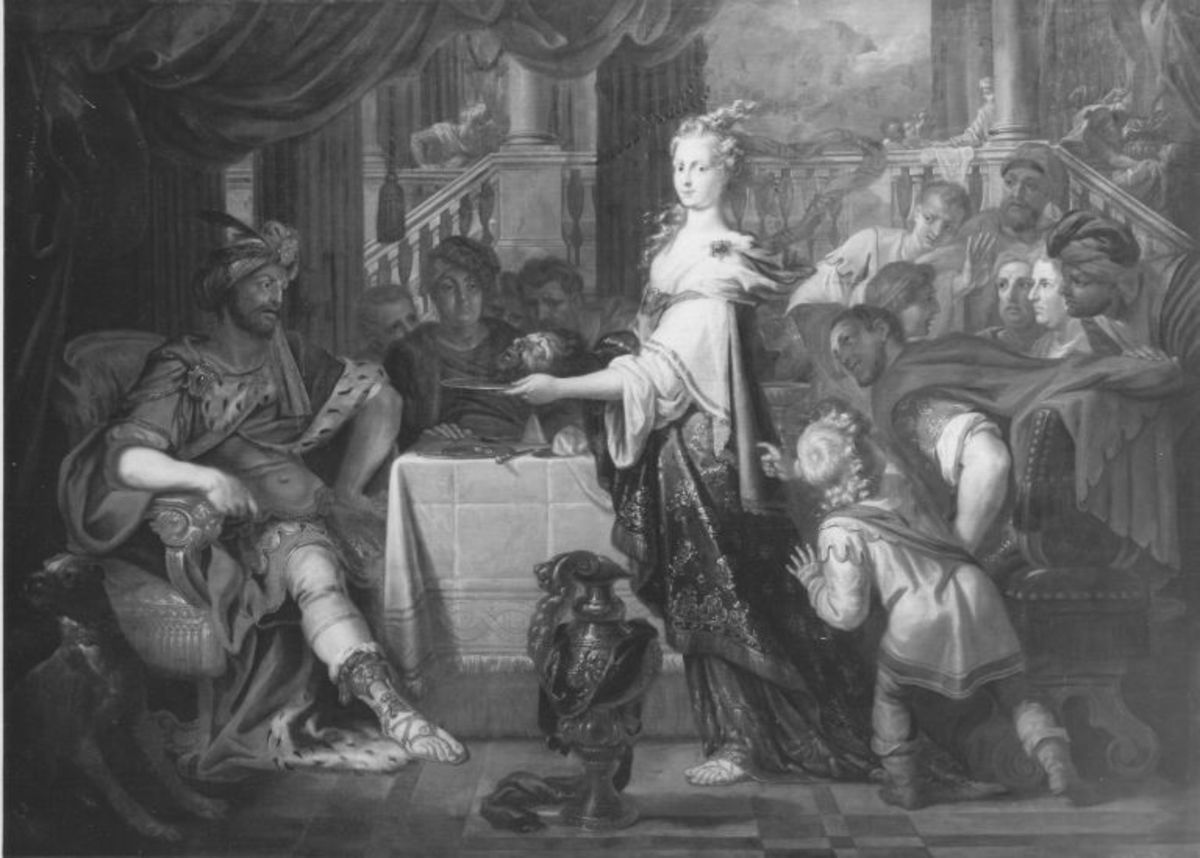 Herodias mit dem Haupt des Johannes