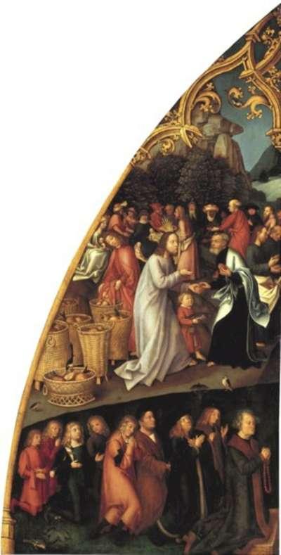 Epitaph der Schwestern Walther: Speisung der Fünftausend