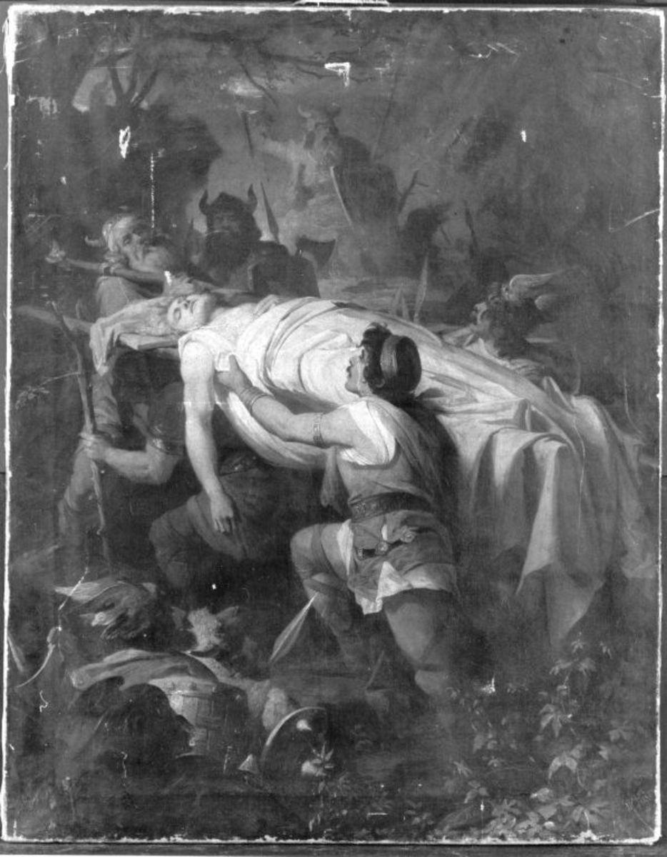 Aufbahrung des toten Siegfried