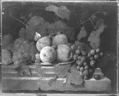 Stillleben mit Trauben und Äpfeln