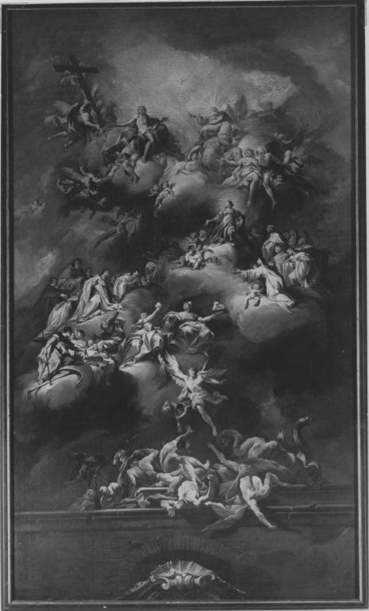 Aufnahme Mariens in den Himmel (Entwurf für das Deckenfresko der Klosterkirche Fürstenzell)