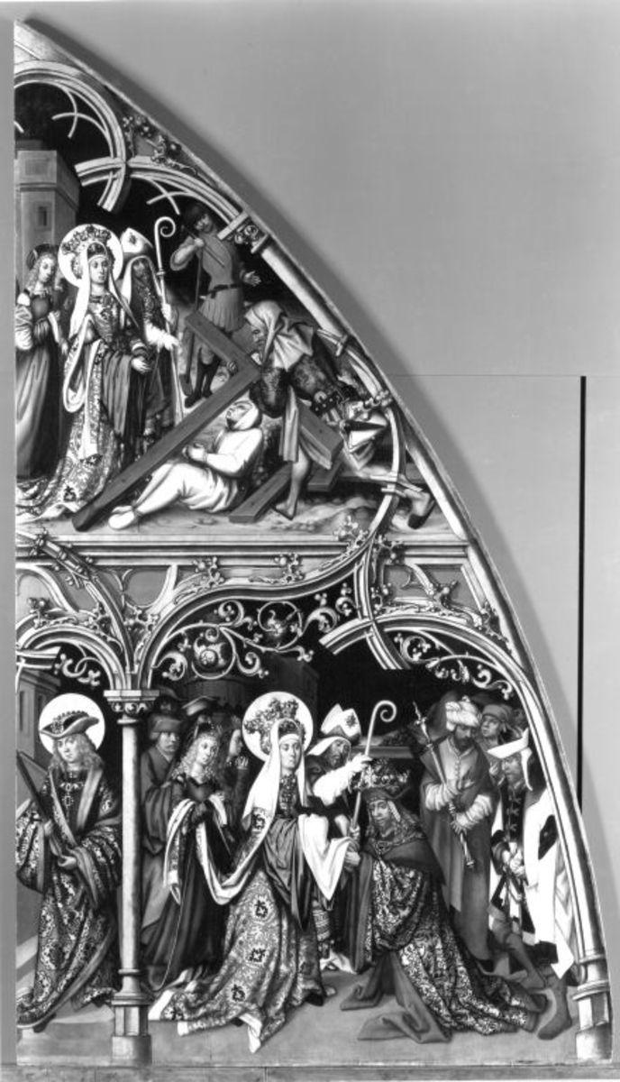 Basilika San Lorenzo und Basilika San Sebastiano, linke Tafel: Szenen aus Kreuzlegende