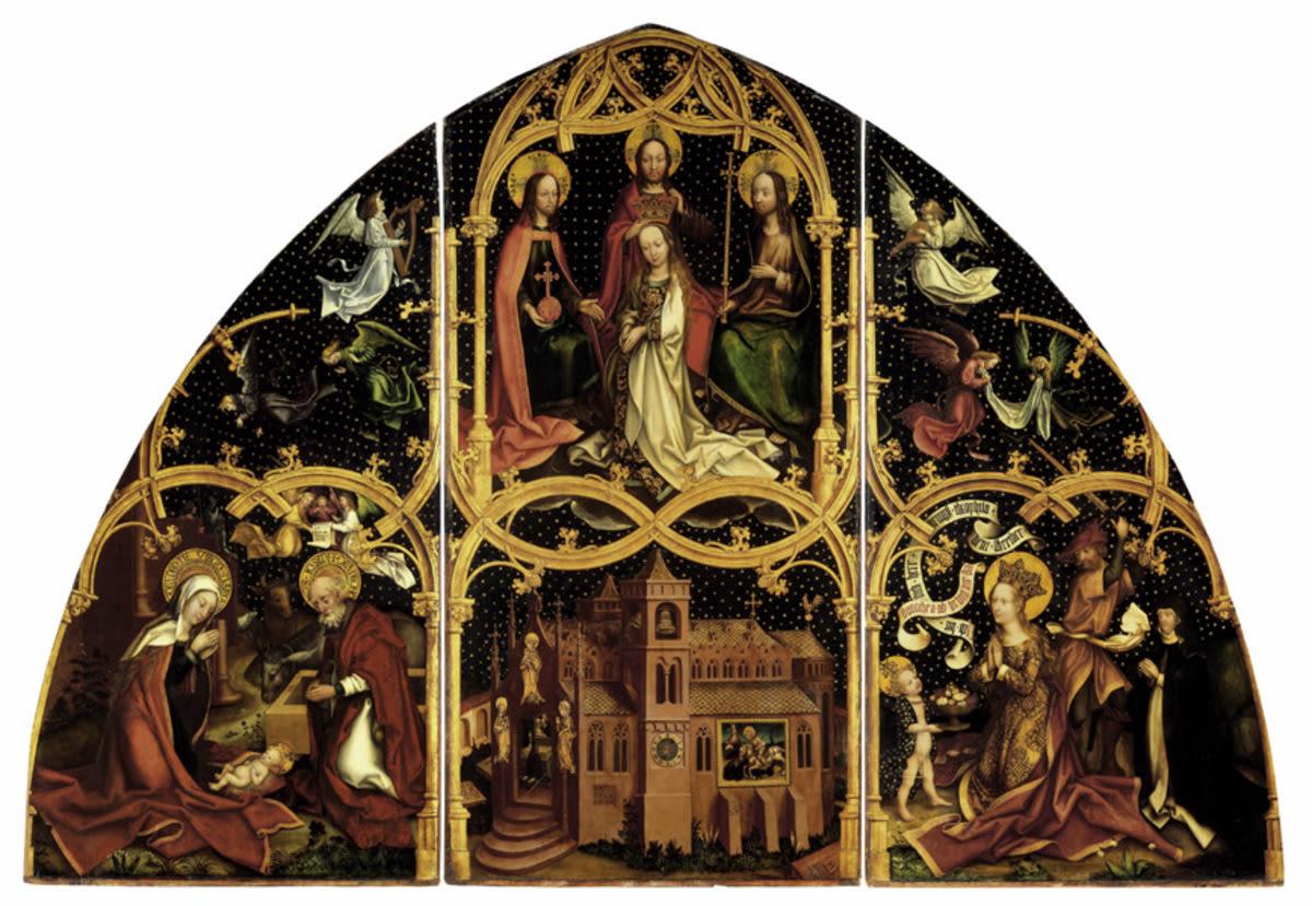 Basilika Santa Maria Maggiore, Mitteltafel: Marienkrönung