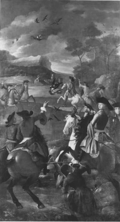 Kurfürst Max Emanuel auf einer Falkenjagd