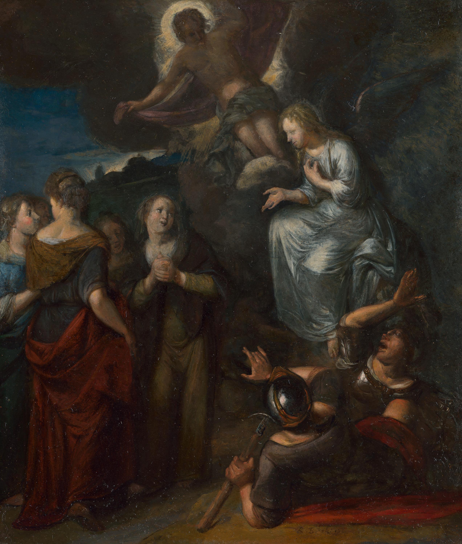 Die Auferstehung Christi und der Besuch der Frauen am Grabe