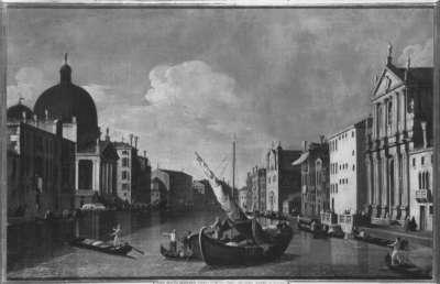 Canale Grande mit der Chiesa degli Scalzi alle Fondamenta della Croce und San Simeone Piccola