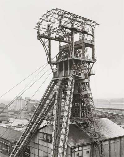 Förderturm Bergwerk Zolder, Belgien