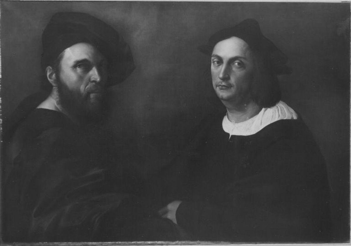 Doppelbildnis des Andrea Navagero und des Agostino Beazzano (nach Raffael)