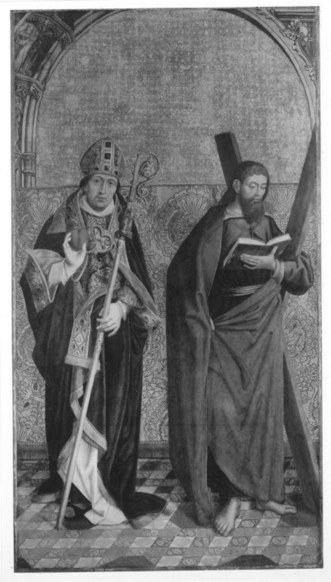 Die hll. Augustinus und Andreas Außenseite: Buße des hl. Hieronymus und kniende Nonne