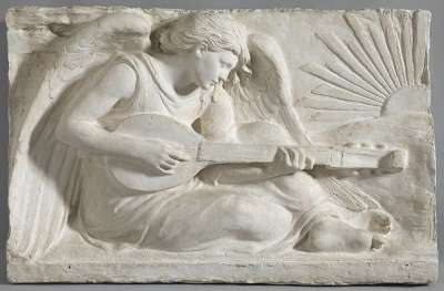 Laute spielender Engel (Modell für das Relief am Mausoleum des Dirigenten Hermann Levi in Partenkirchen)