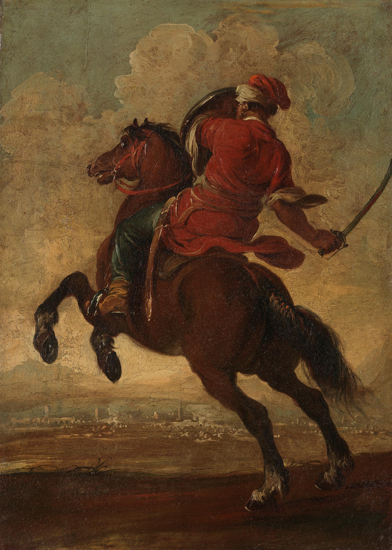 Reiter im Angriff