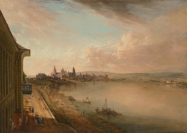 Blick auf Mainz von Süden