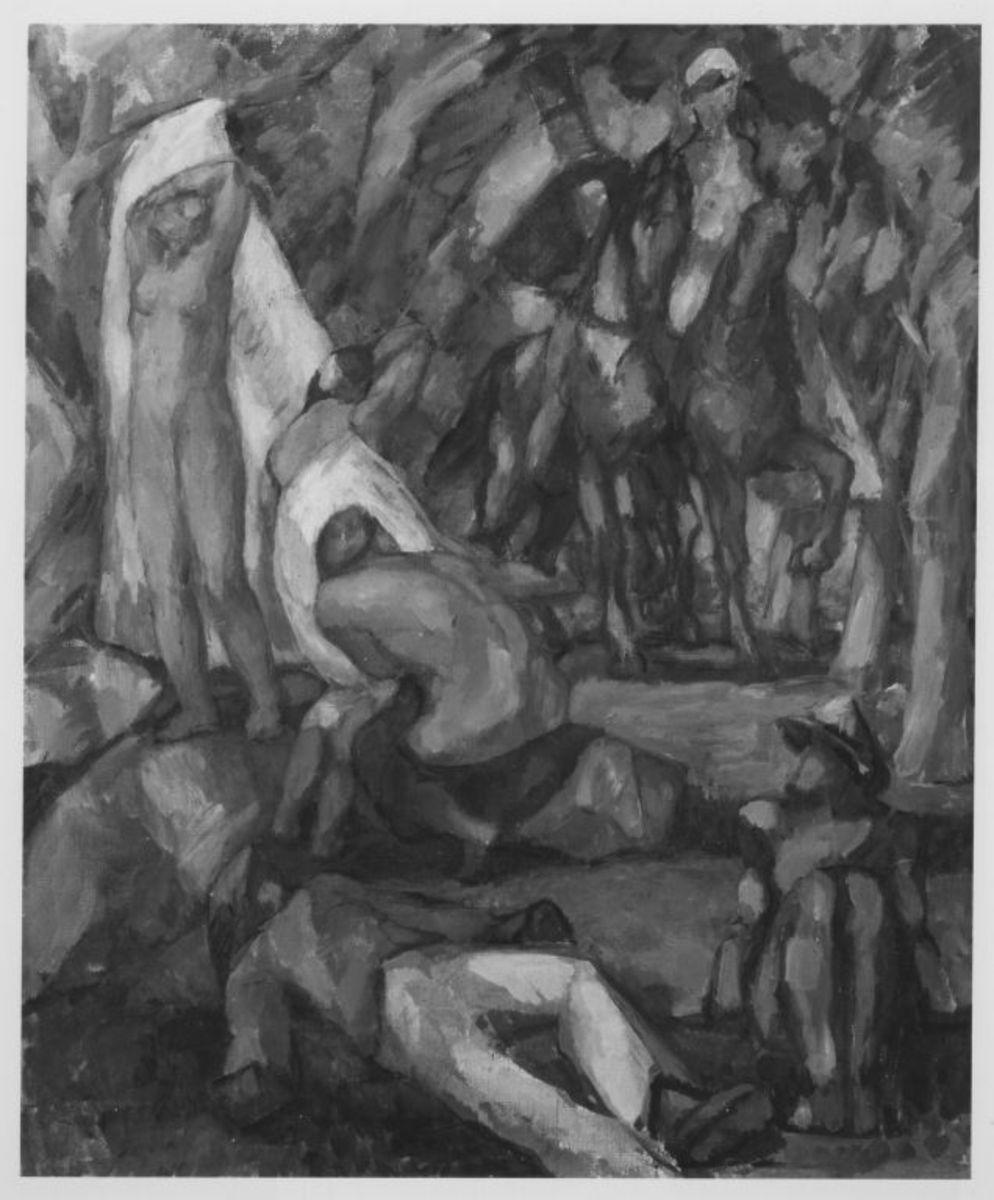 Figurengruppe in Landschaft