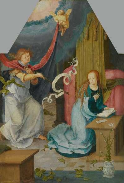 Verkündigung an Maria (abgetrennte Außenseite von Inv.Nr. 742)
