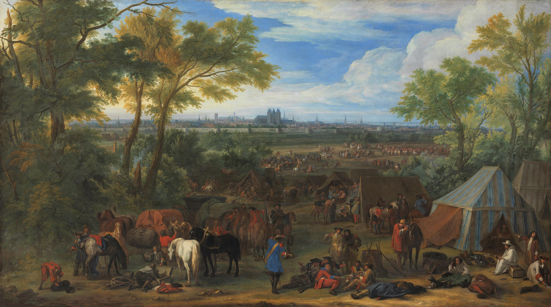 Das Lager vor Tournai, 1667