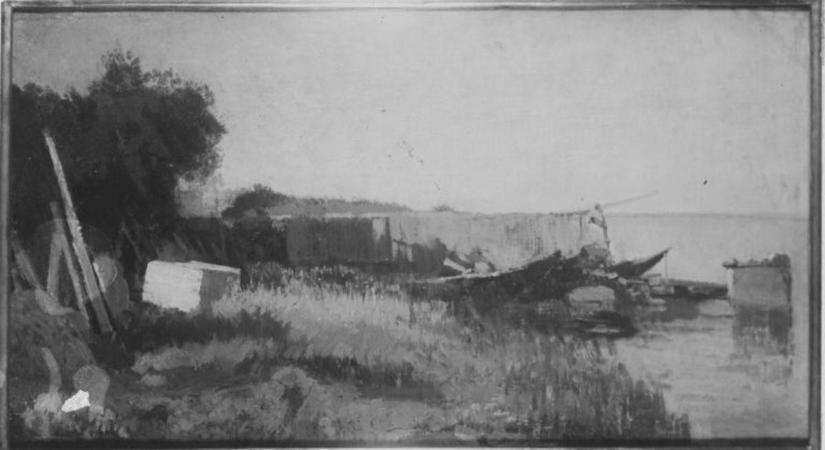 Chiemsee (Kahn mit Netzen)