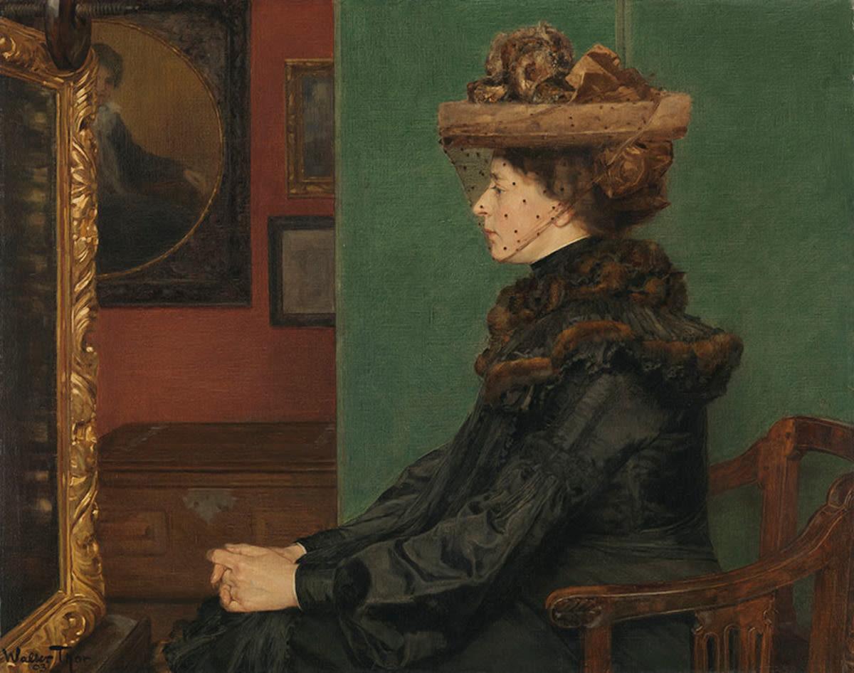 Im Atelier (Die Frau des Künstlers)