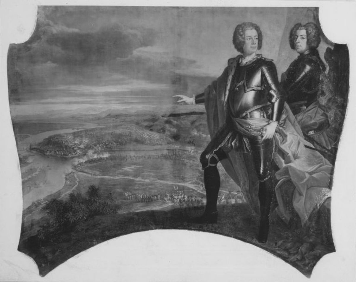 Karl Albrecht und Ferdinand Maria Innozenz bei der Eroberung von Belgrad (2. Eroberung)