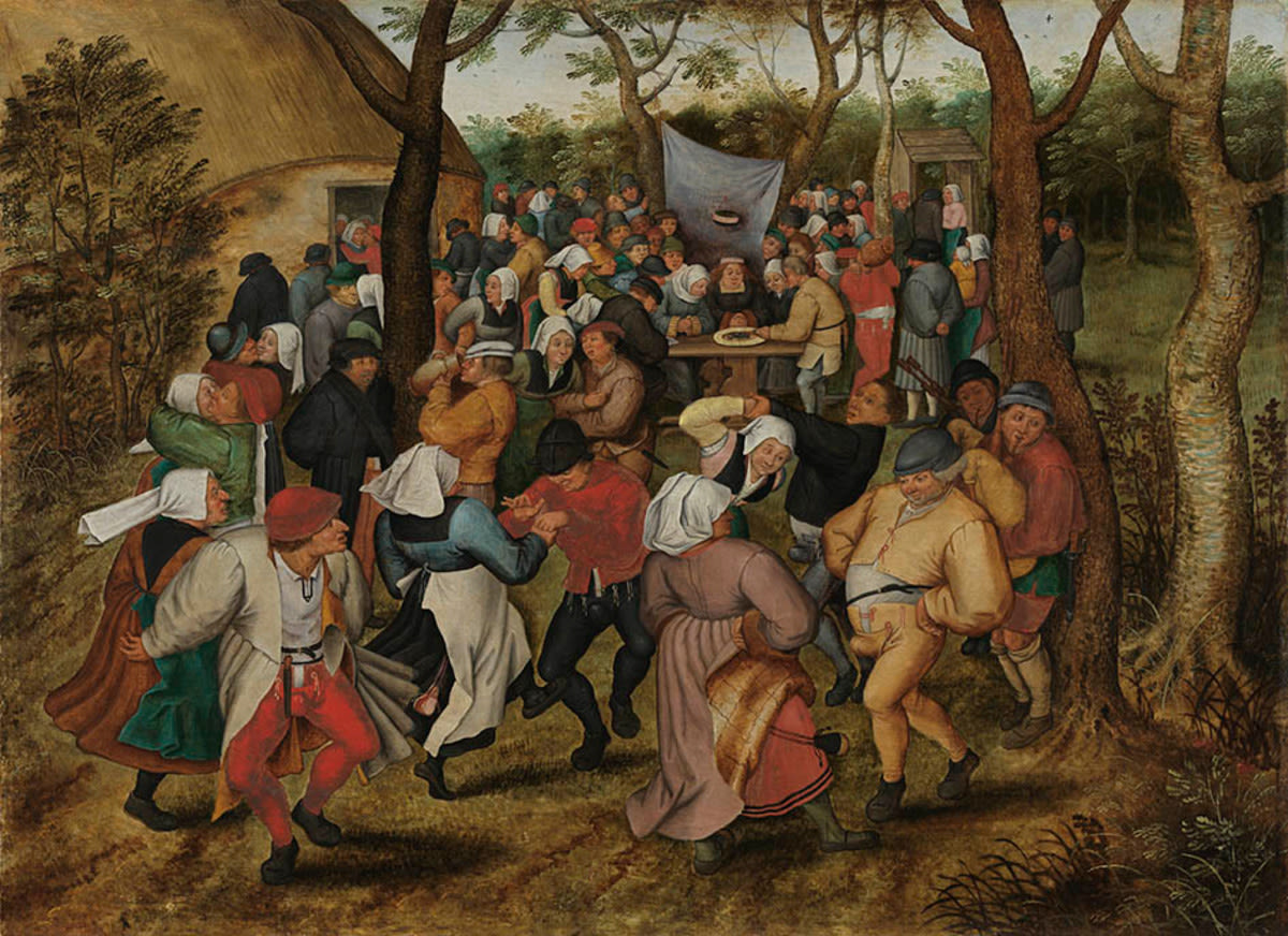 Bauernhochzeit (nach Pieter Bruegel d. Ä.)