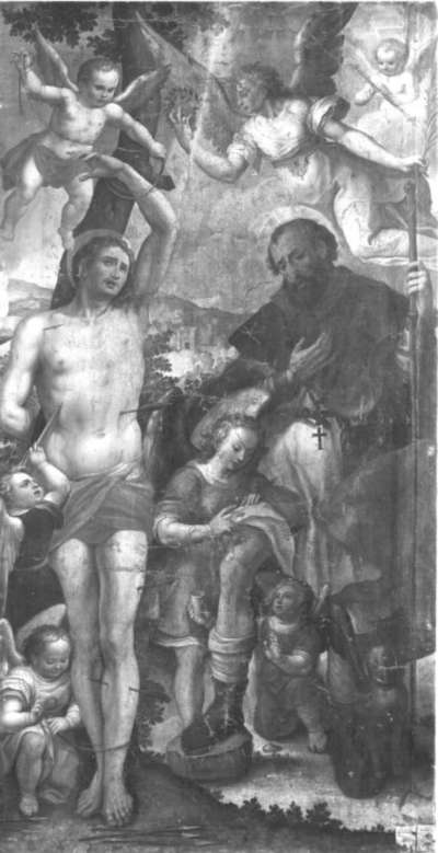 Die hll. Sebastian und Rochus