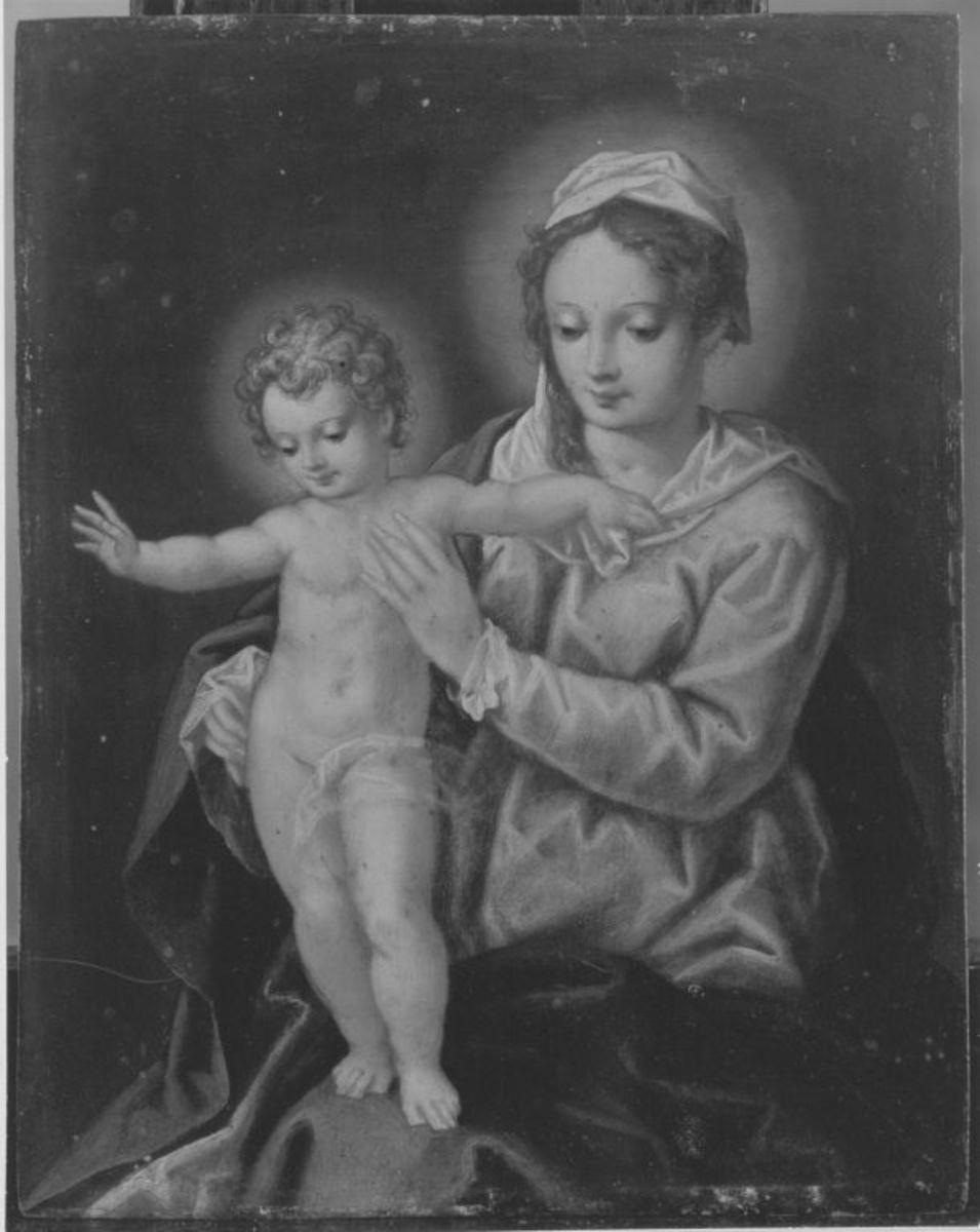 Maria mit Kind Rückseite: Hl. Joseph mit Kind