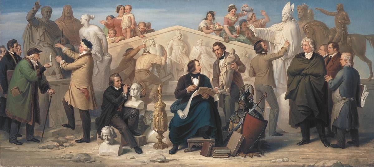 Die von König Ludwig I. in Tätigkeit gesetzten Bildhauer