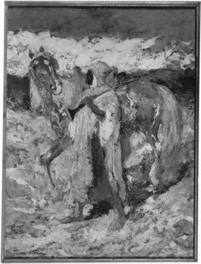 Beduine mit Pferd
