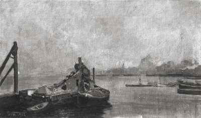 Fluss und Schiffe