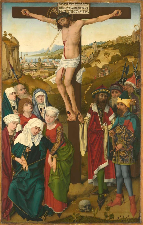 Hofer Altar: Kreuzigung Christi (Rückseite: Verkündigung an Maria)